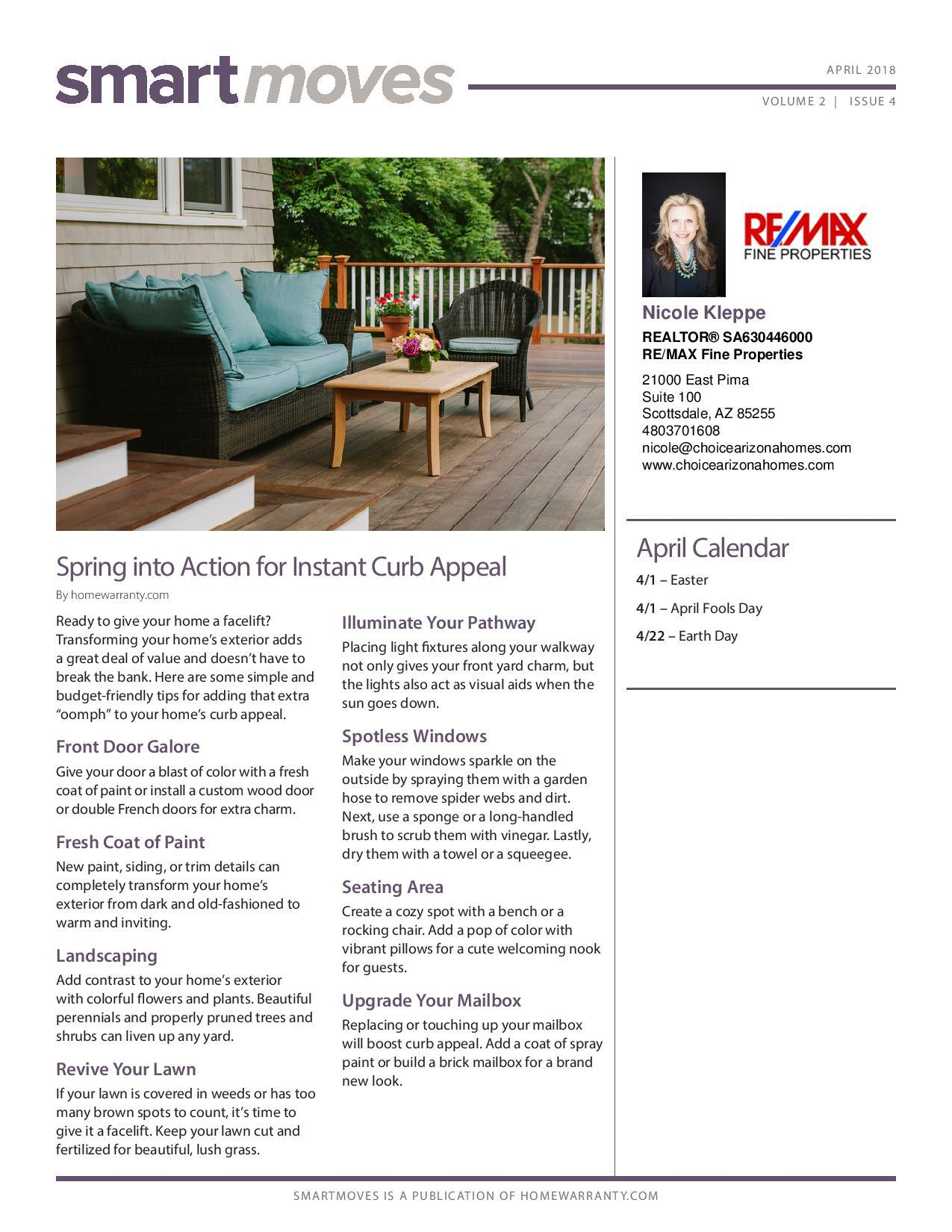 April 2018 Real Estate Newsletter page 1