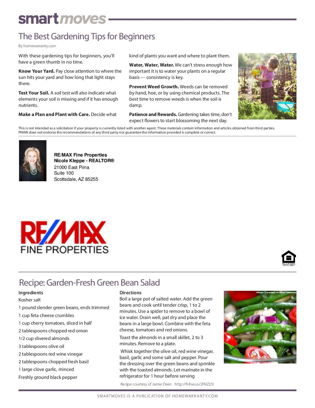 April  Real Estate Newsletter