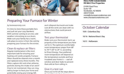 October Real Estate Newsletter!
