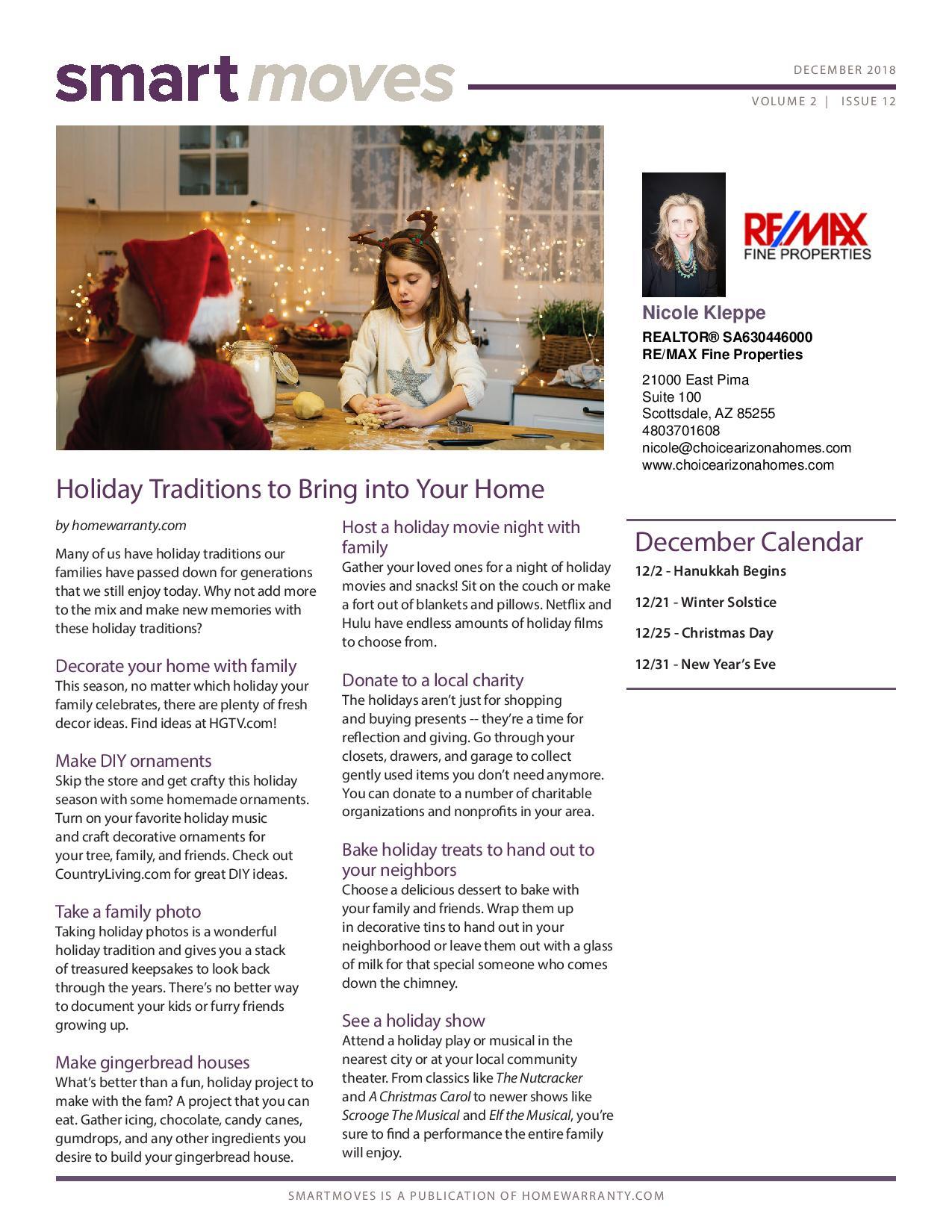 December Real Estate Newsletter Nicole Kleppe